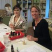Two Smiling Students at an In-Person Skin Conditions Class with Alice Duvernell at The Nova Studio