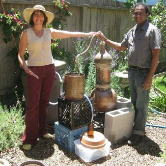 Alice Duvernell with her Copper Still & TA
