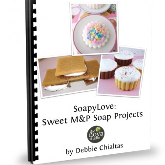 Soapylove; Sweet Melt & Pour Soap Projects Class Handout Cover by Debbie Chialtas