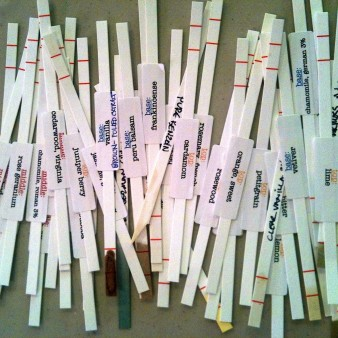 Scent Strips with Labels and Essential Oils