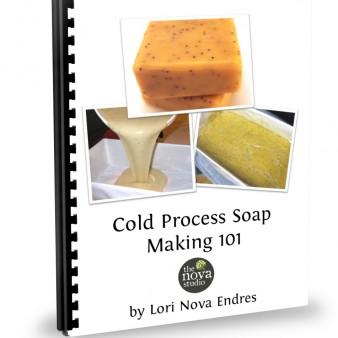 Cold Process Soap Making 101 Class Handout Cover by Lori Nova Endres of The Nova Studio