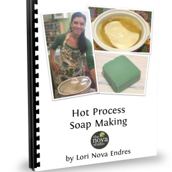 Hot Process Soap Class Handout Cover by Lori Nova Endres, Founder of The Nova Studio