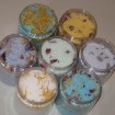 Various Bath Salts in Several Colors with Different Types of Botanicals