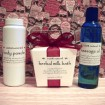 Body Powder, Herbal Milk Bath and Massage Oil