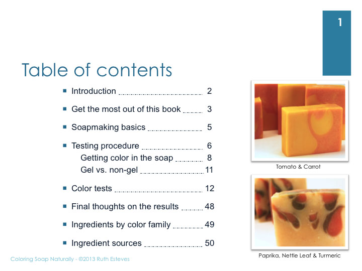 Coloring Soap Naturally - eBook - The Nova Studio