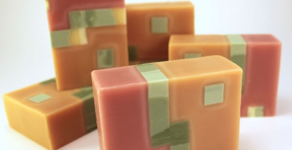 Finished Bars of Embed Soap Using Ruth's Free Tutorial