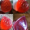 transparent soap red