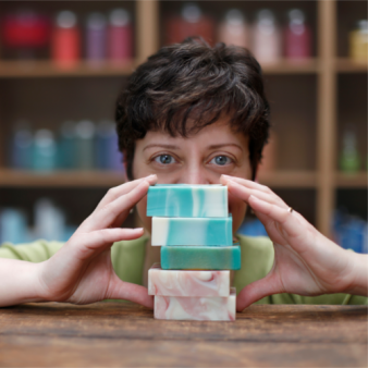 ruth esteves and bars of soap