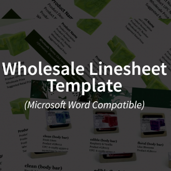 Wholesale Linesheet Template (Microsoft Word Compatible)